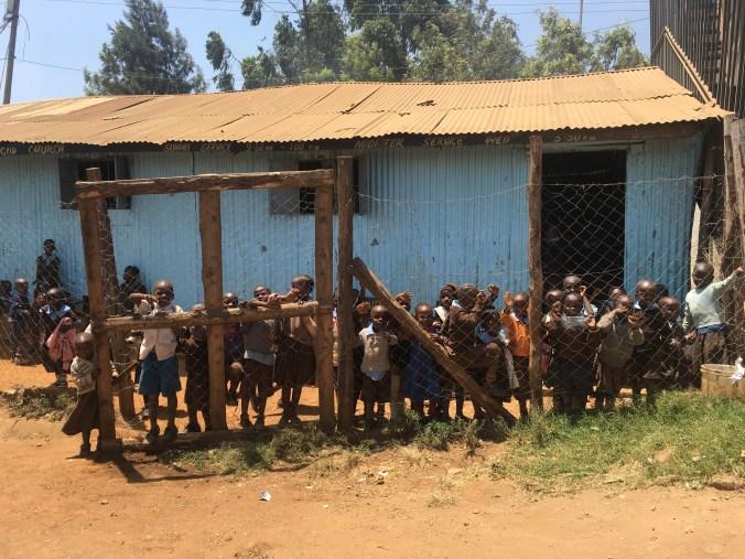 One of many schools in Kibera