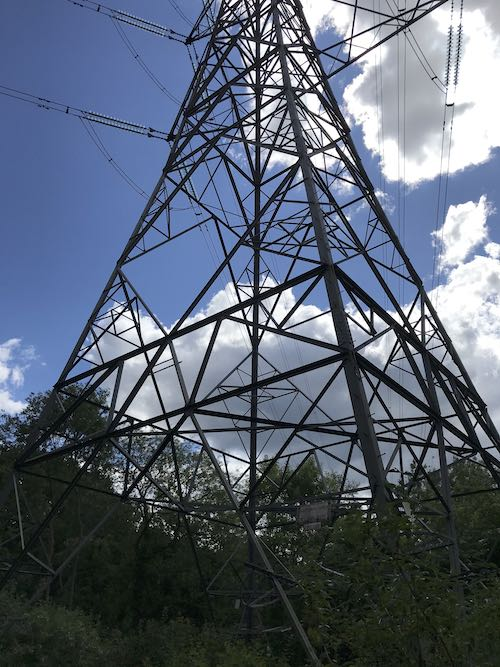 White Hill pylons are a directional finder