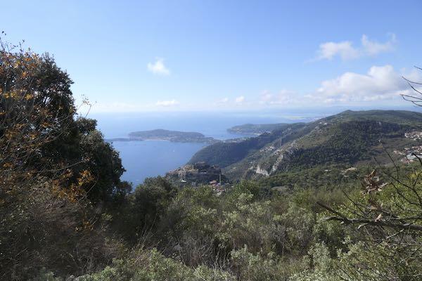 From the La Turbie 2 hour walk look down towards Cap Ferrat and beyond