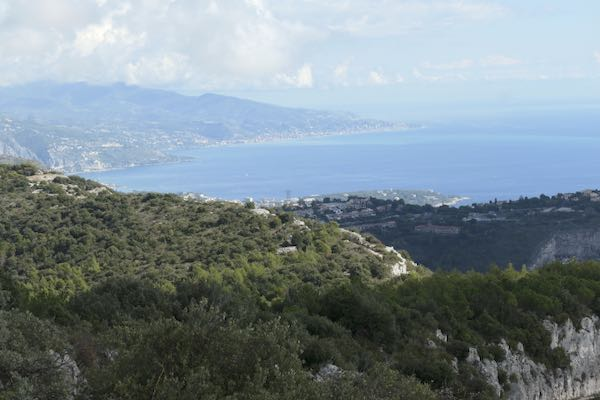 The view from the observation point of the La Turbie 2 hour walk