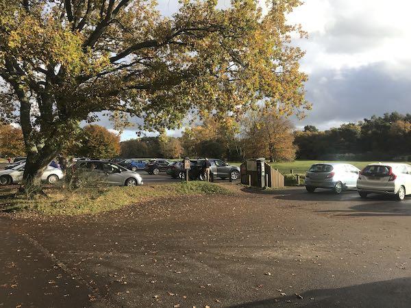 The main car park at Burnham Beeches