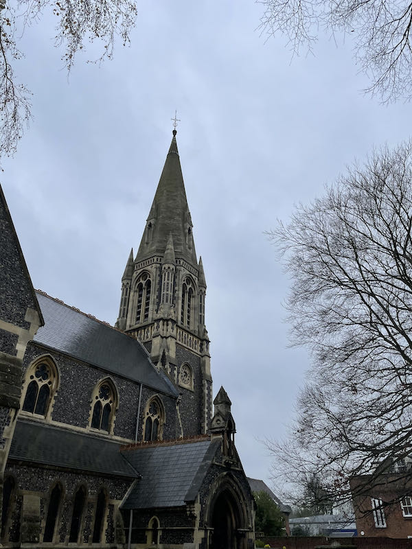 St Andrews Church Hertford part of today's Historic walk