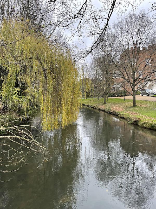 The River Lee runs through Hertford