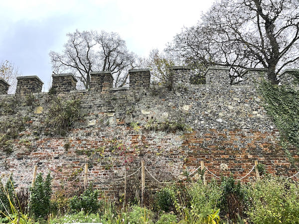 Hertford Castle walls from the 12th century