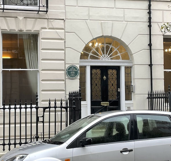 Conan Doyle worked here and the plaque can be seen on the Walking Dickensian London Marylebone tour
