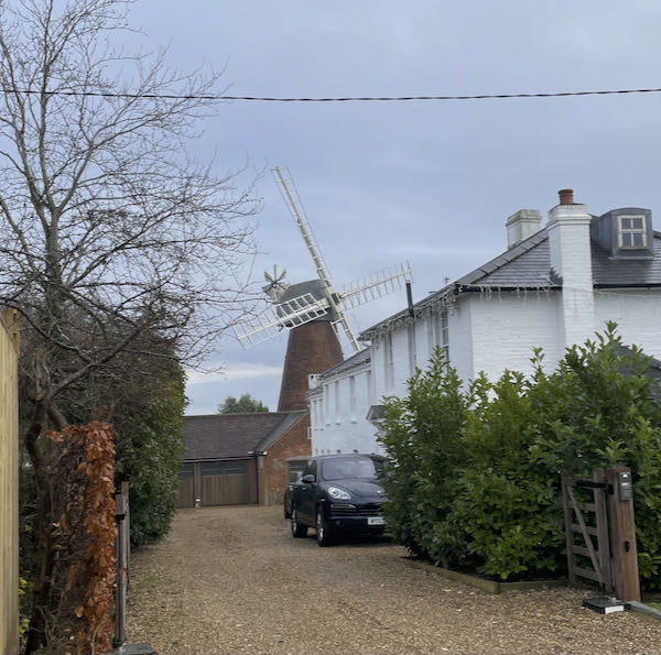 The Windmill at the start of the Coleshill to Penn walk