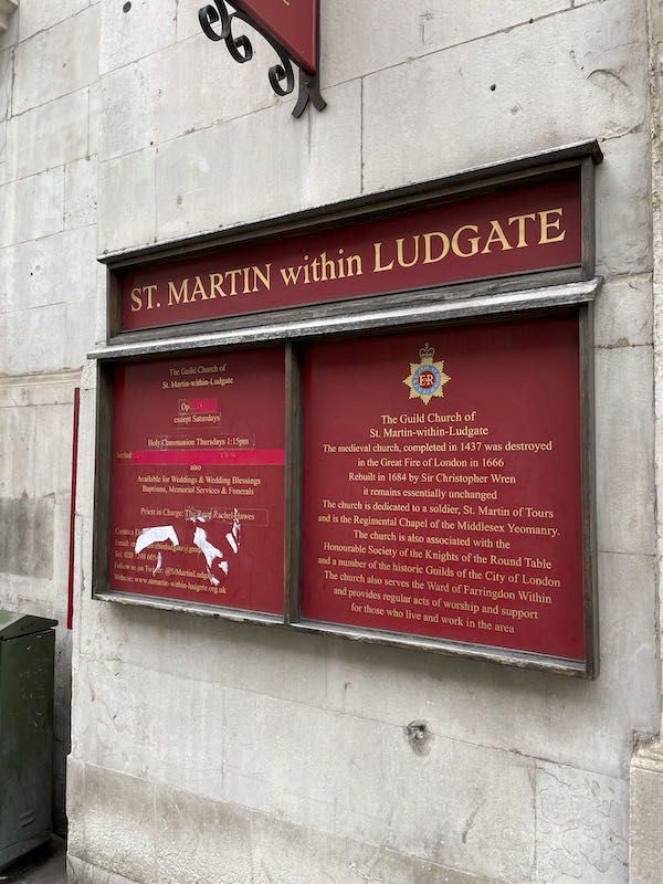 Not strictly a part of a Dickensian walk near St Paul's, it's worth reading the London Inheritance Blog