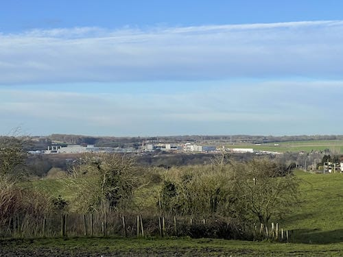Begin the Harefield Loop Walk with a view of HS2 construction
