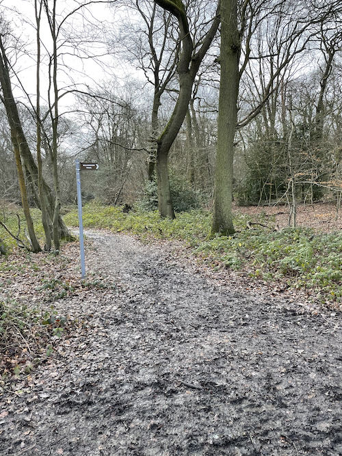 A muddy section of the Ruislip to Harefield Loop walk