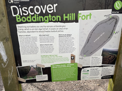 The site of an ancient monument on the Wendover loop trail.