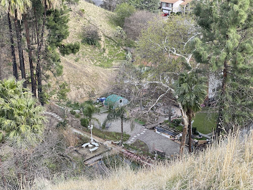 Look down from the Porter Ranch Trail