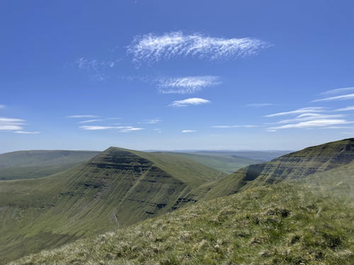 A great view on the quiet route to Pen y Fan