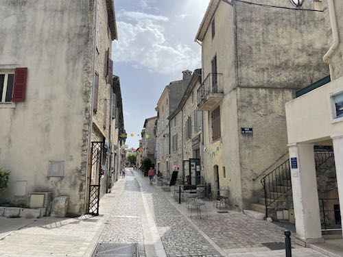 The main street of La Colle and the beginning of the La Colle to Tourette walk