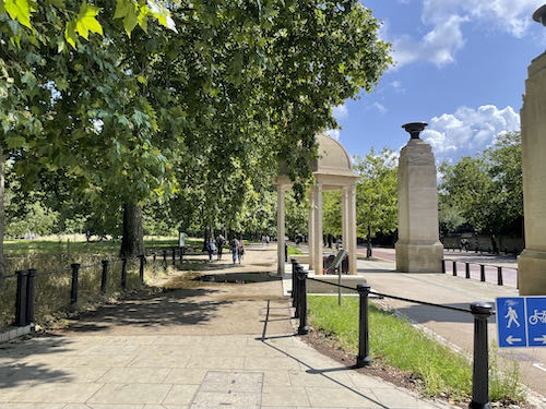 Enter Green Park as part of the central London parks walk