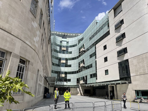 The modern BBC on the central London parks walk