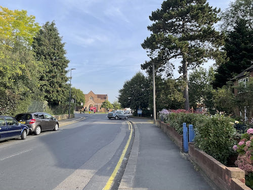 The beginning of the Pinner to Stanmore country walk