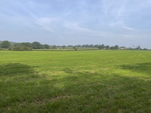 The first open field on the Pinner to Stanmore country walk