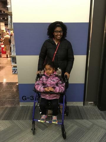 ShaRhonda daighter in wheelchair