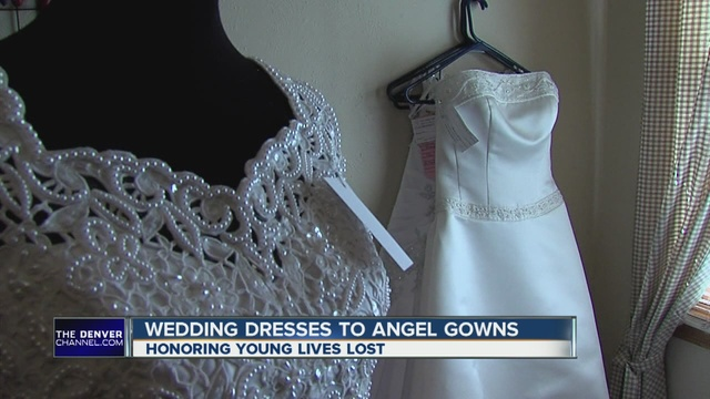 Colorado Woman Turns Wedding Dresses Into Angel Gowns