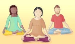 3 meditators
