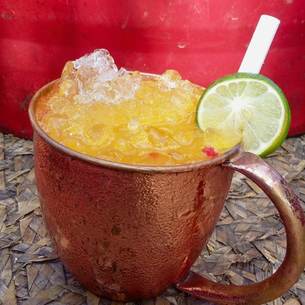 Do try this... chilled mango, chilli, lime and soda
