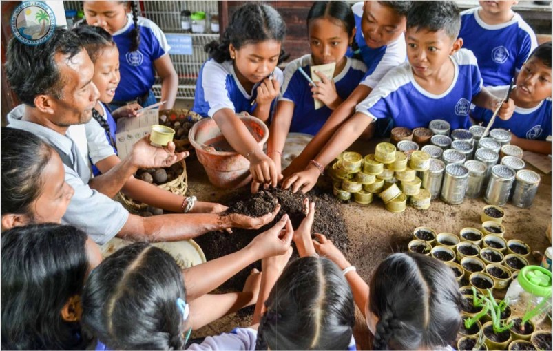 Kids. Making seeds. Charity. Our Bali Your Bali book.