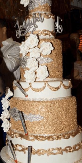 Jennifer Lopez J Lo Diamond Crusted Birthday Cake With
