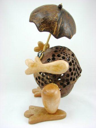Kerajinan Boneka dari Batok Kelapa