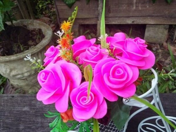 Kerajinan Bunga Dari Sabun