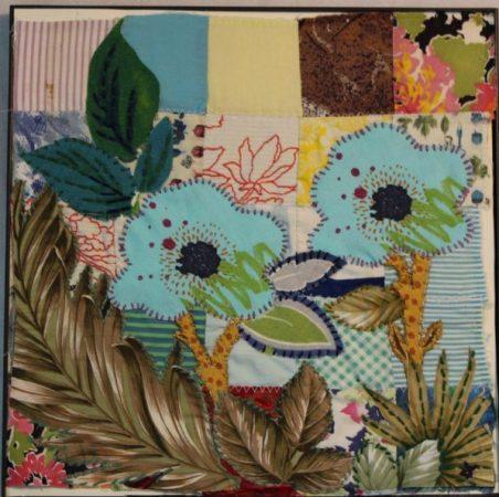 Contoh Gambar Kolase Kain bunga