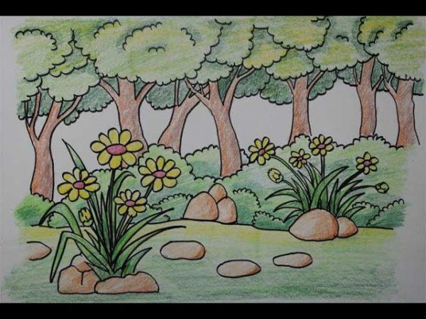 Contoh gambar montase bunga