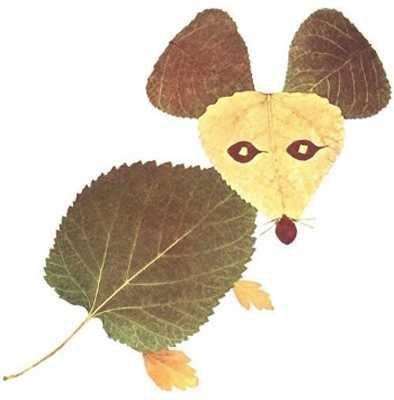 Gambar Kolase Alami Bentuk Tikus