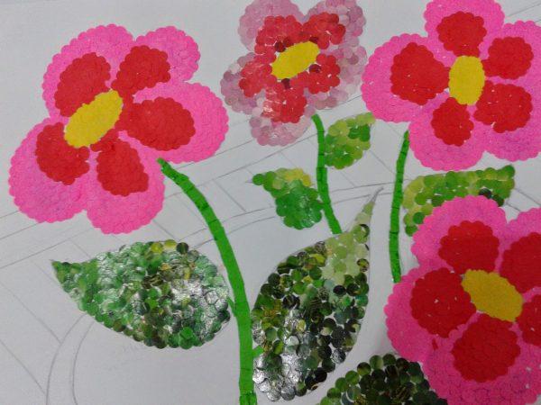 Gambar Mozaik Bunga