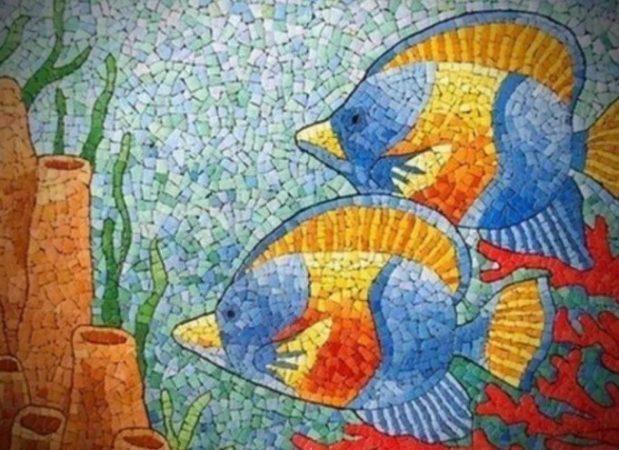 Gambar Mozaik Ikan
