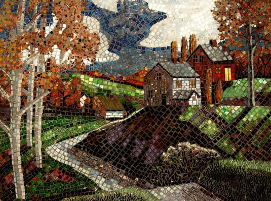 Gambar Mozaik Pemandangan