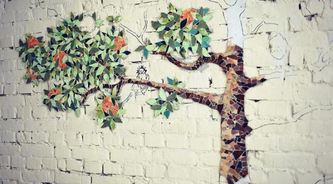 Gambar Mozaik Pohon