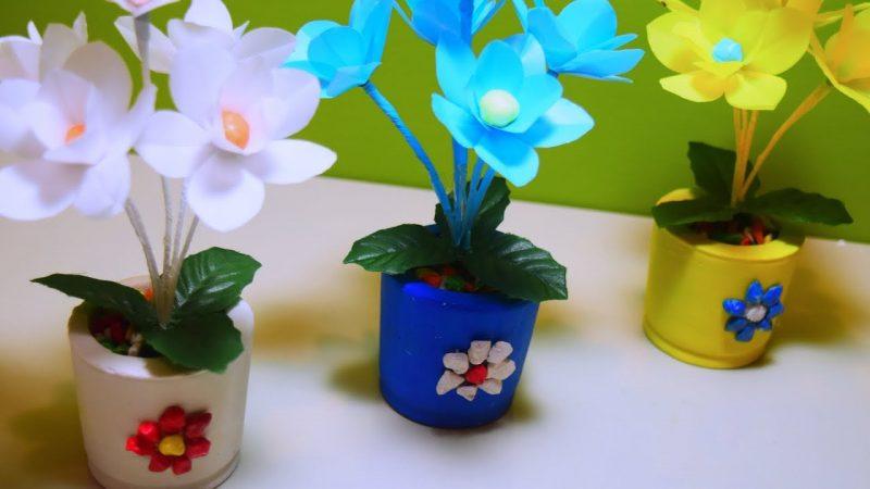 Pot Bunga dari Limbah Plastik