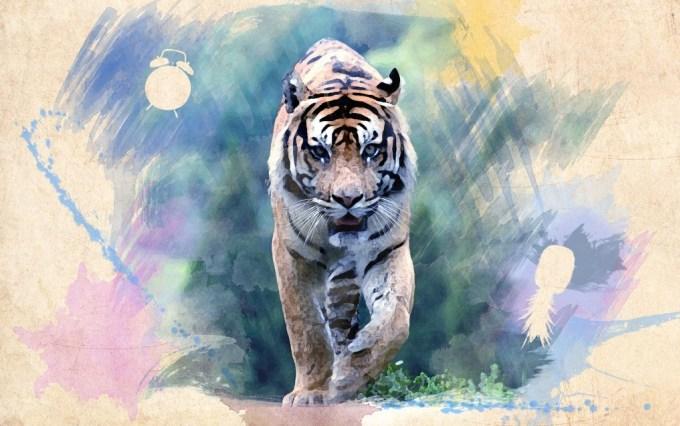 Contoh Lukisan Aquarel Hewan
