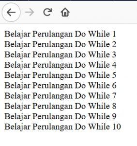 Flowchart Perulangan Do While