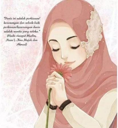 1001 Gambar Kartun Wanita Berhijab Terlengkap Terkeren Dan Tercantik