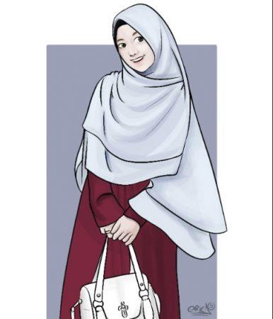 Gambar Kartun Muslimah Belanja