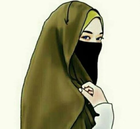 Gambar Kartun Muslimah Elegan