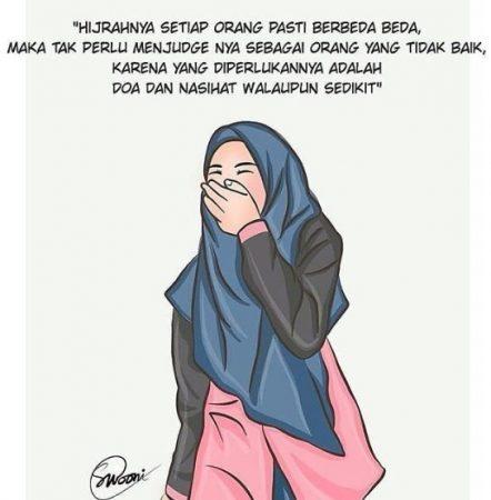 Gambar Kartun Muslimah dan Kata kata 19