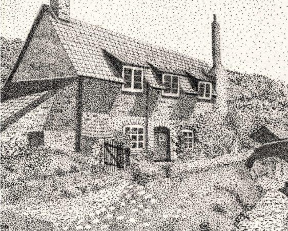 Gambar Pointilis Rumah