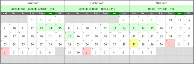 Kalender satu