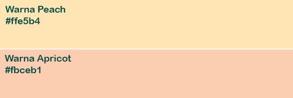 Warna Peach dan Apricot