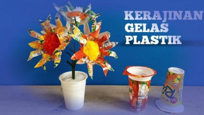 Kerajinan dari Aqua Gelas