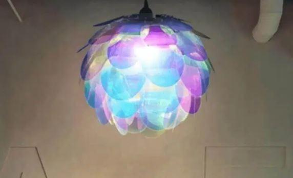 Hiasan Lampu Cantik dari sisik ikan