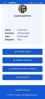 Simpan video tiktok HD