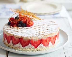 sharingourfoodadventures.com Instant Strawberry Gateau - Luscious (Courtesy of James Martin & Good Food Channel)